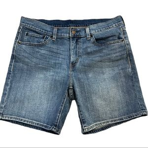 Levi's Mid-Thigh High Waist Jeans Shorts